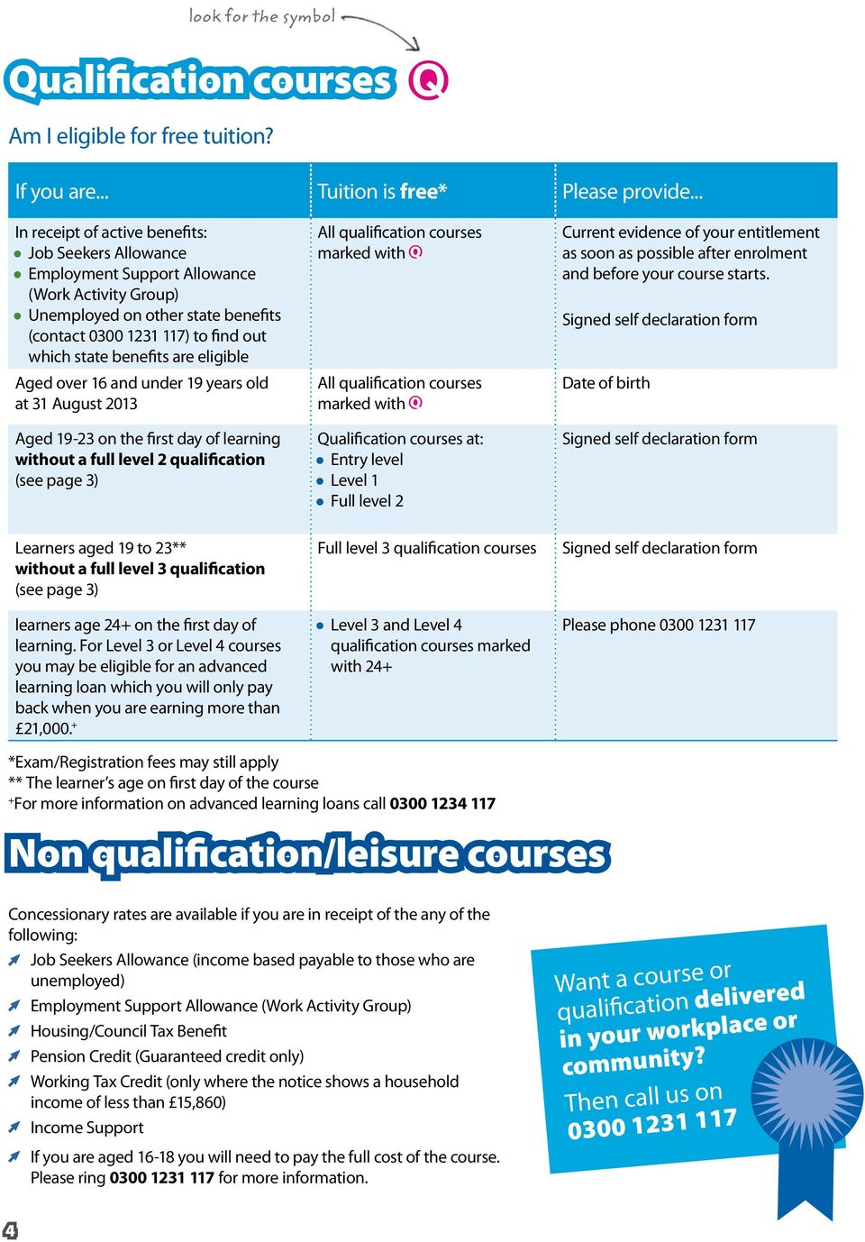 are eligible Aged over 16 and under 19 years old at 31 August 2013 Aged 19-23 on the first day of learning without a full level 2 qualification (see page 3) Learners aged 19 to 23** without a full