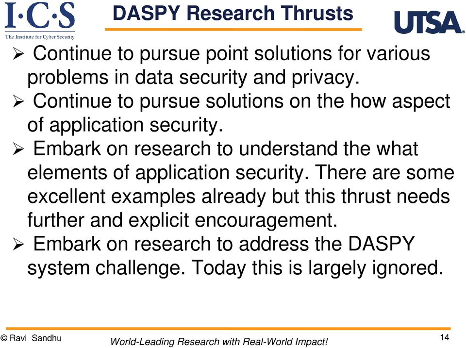 Embark on research to understand the what elements of application security.