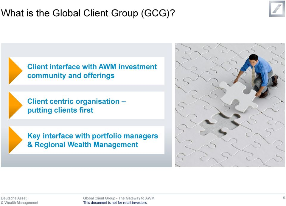 offerings Client centric organisation putting clients