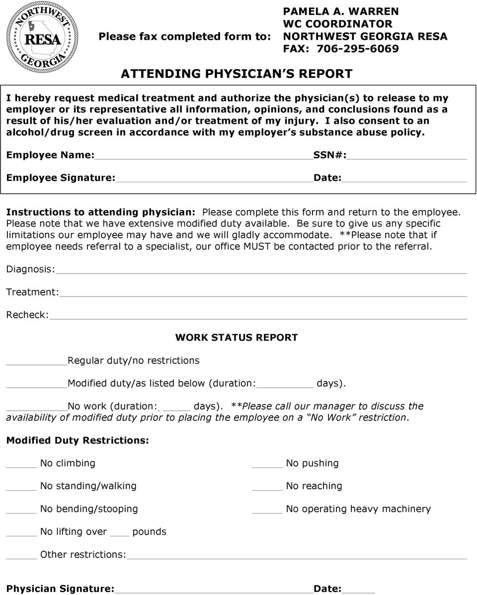 representative all information, opinions, and conclusions found as a result of his/her evaluation and/or treatment of my injury.