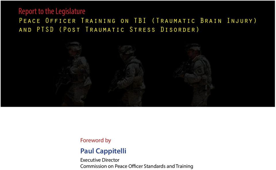 Stress Disorder) Foreword by Paul Cappitelli Executive