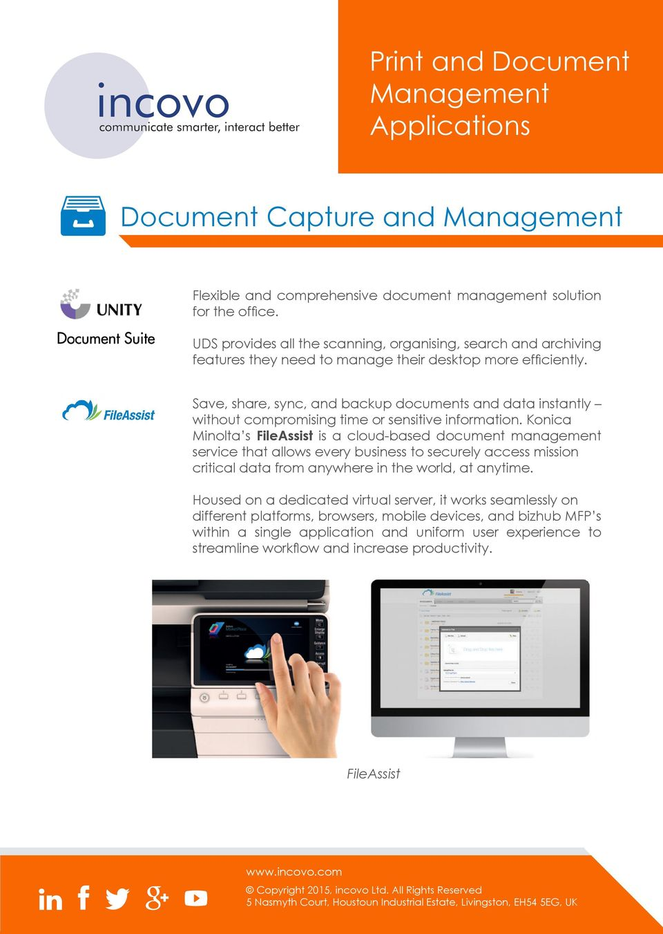 Save, share, sync, and backup documents and data instantly without compromising time or sensitive information.