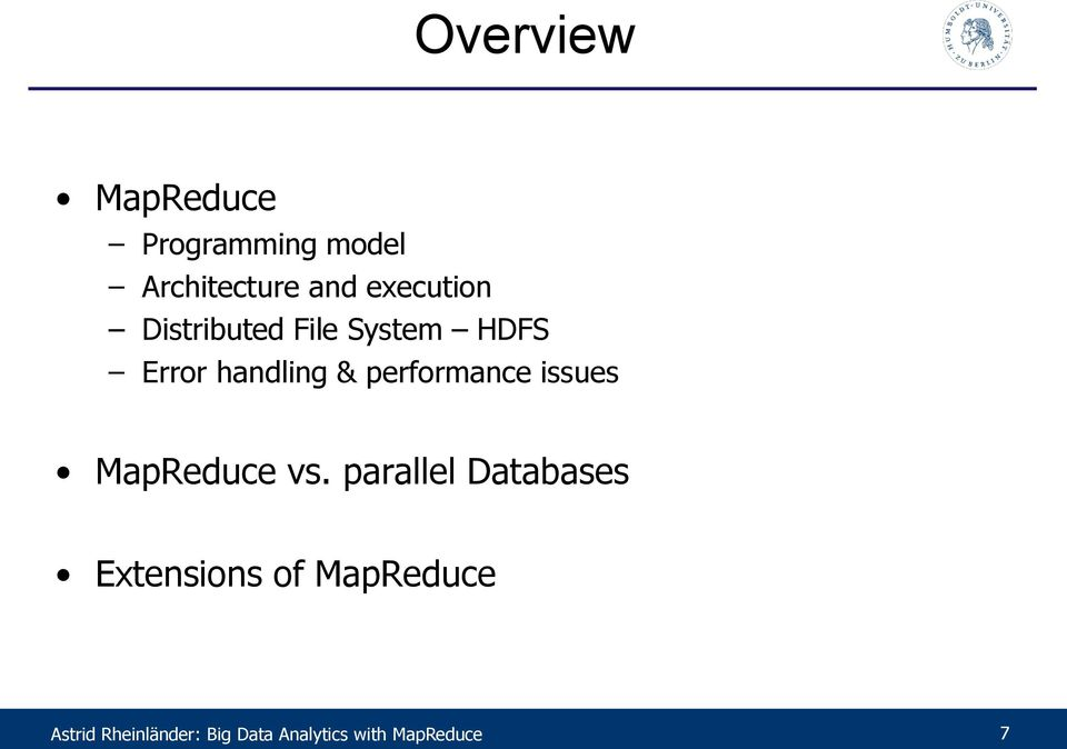 performance issues MapReduce vs.