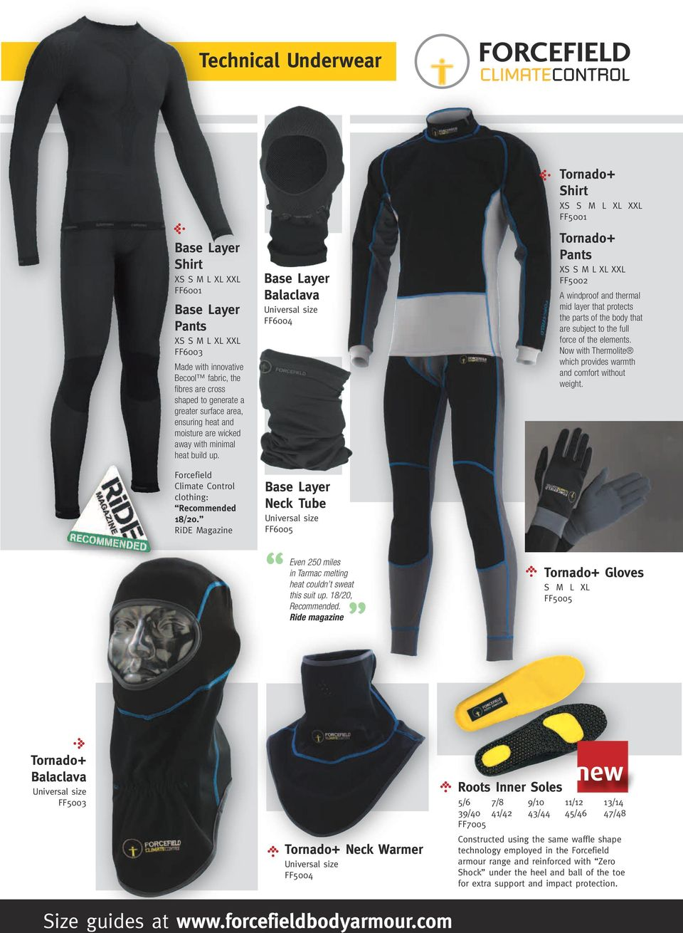 RiDE Magazine Base Layer Balaclava Universal size FF6004 Base Layer Neck Tube Universal size FF6005 Even 250 miles in Tarmac melting heat couldn t sweat this suit up. 18/20, Recommended.