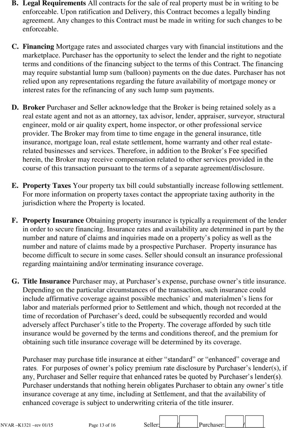 Residential Sales Contract Virginia Pdf