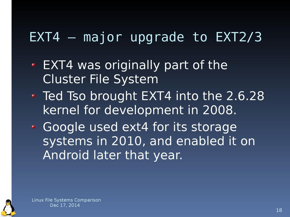 28 kernel for development in 2008.