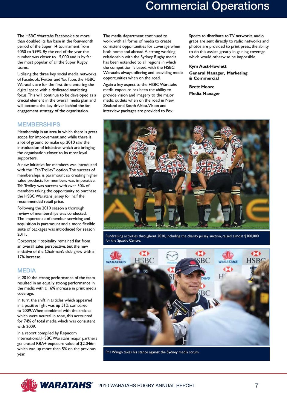 Utilising the three key social media networks of Facebook, Twitter and YouTube, the HSBC Waratahs are for the first time entering the digital space with a dedicated marketing focus.