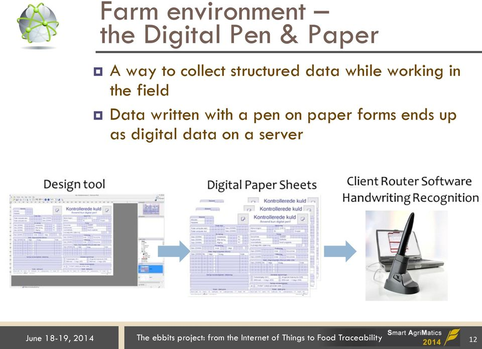 pen on paper forms ends up as digital data on a server June