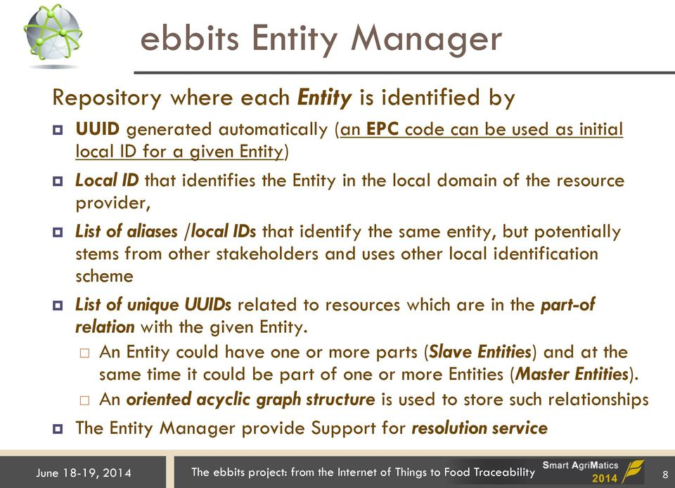 of unique UUIDs related to resources which are in the part-of relation with the given Entity.