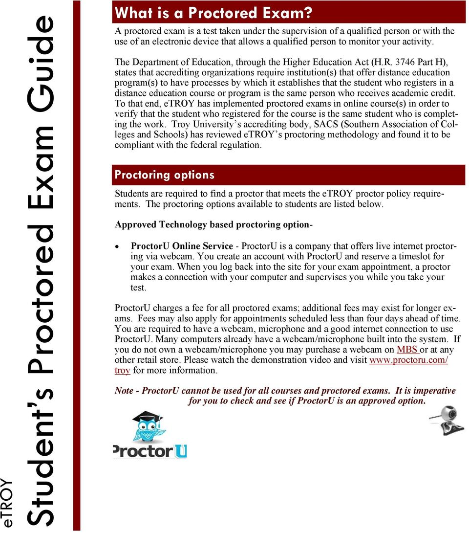 Student s Proctored Exam Guide - PDF