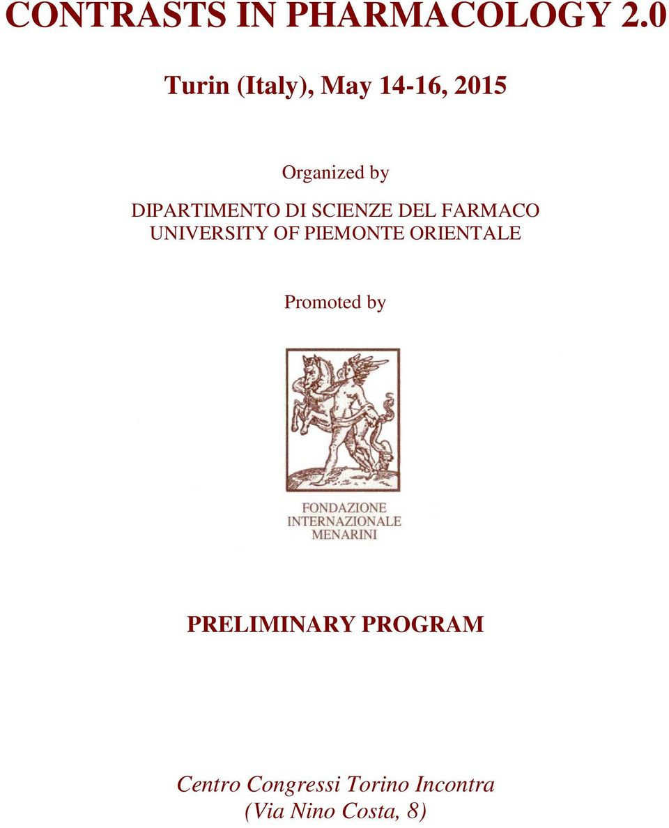 DIPARTIMENTO DI SCIENZE DEL FARMACO UNIVERSITY