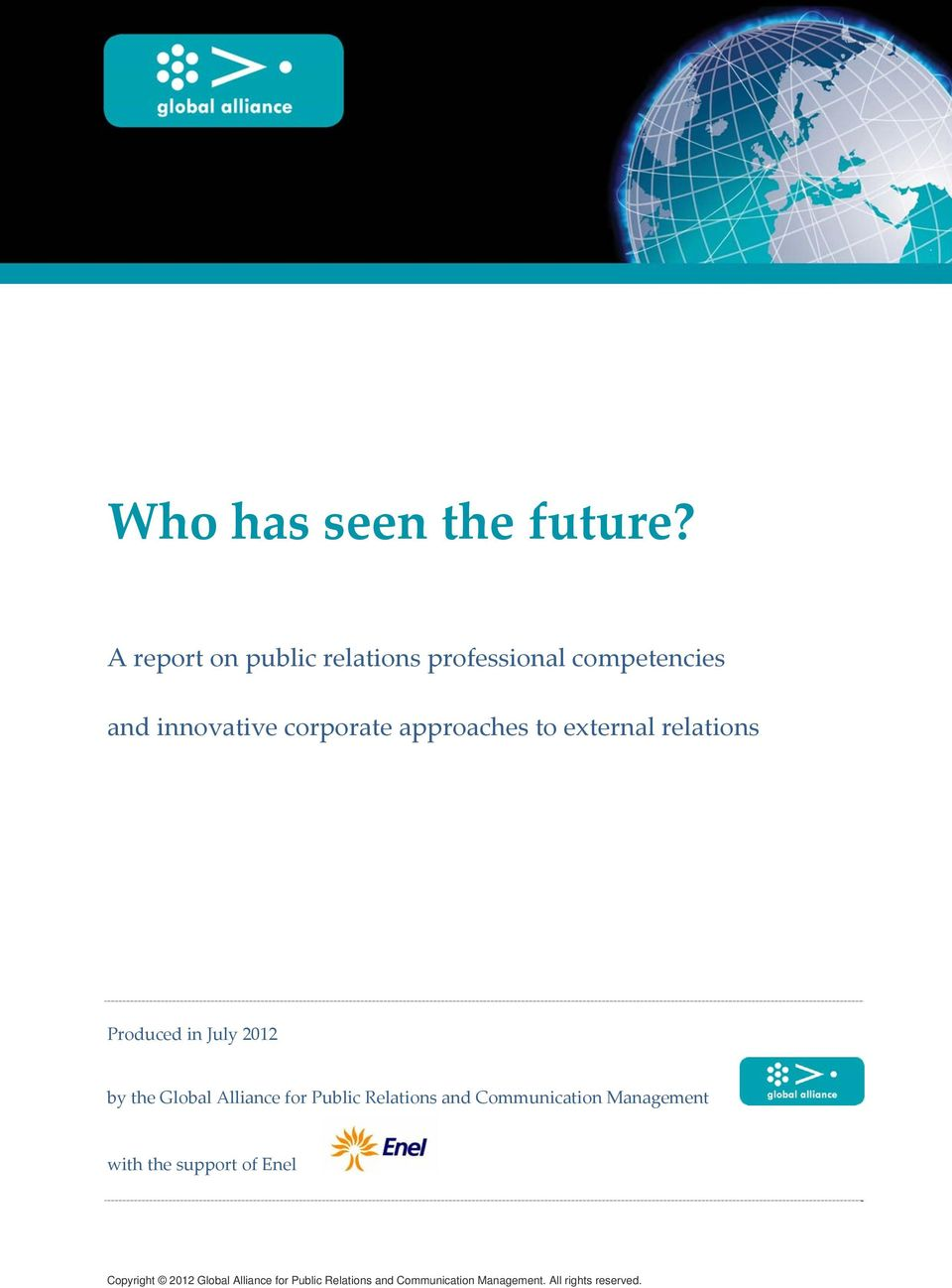 A report on public relations professional competencies and innovative corporate