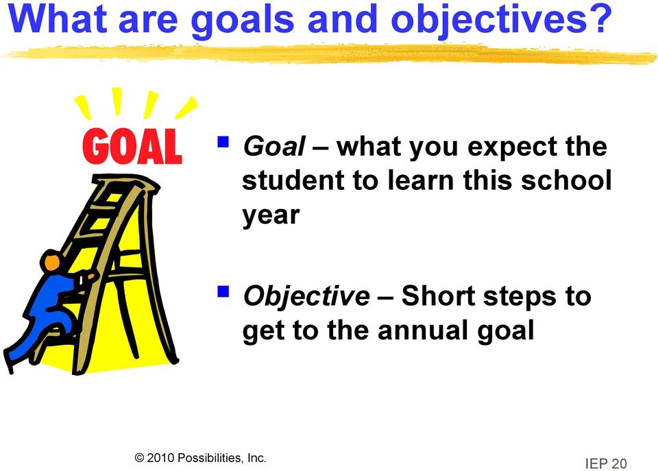 learn this school year Objective