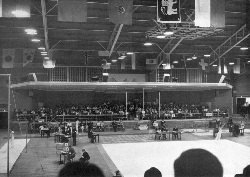 View of Gymnastic Stadium also used for Boxing.