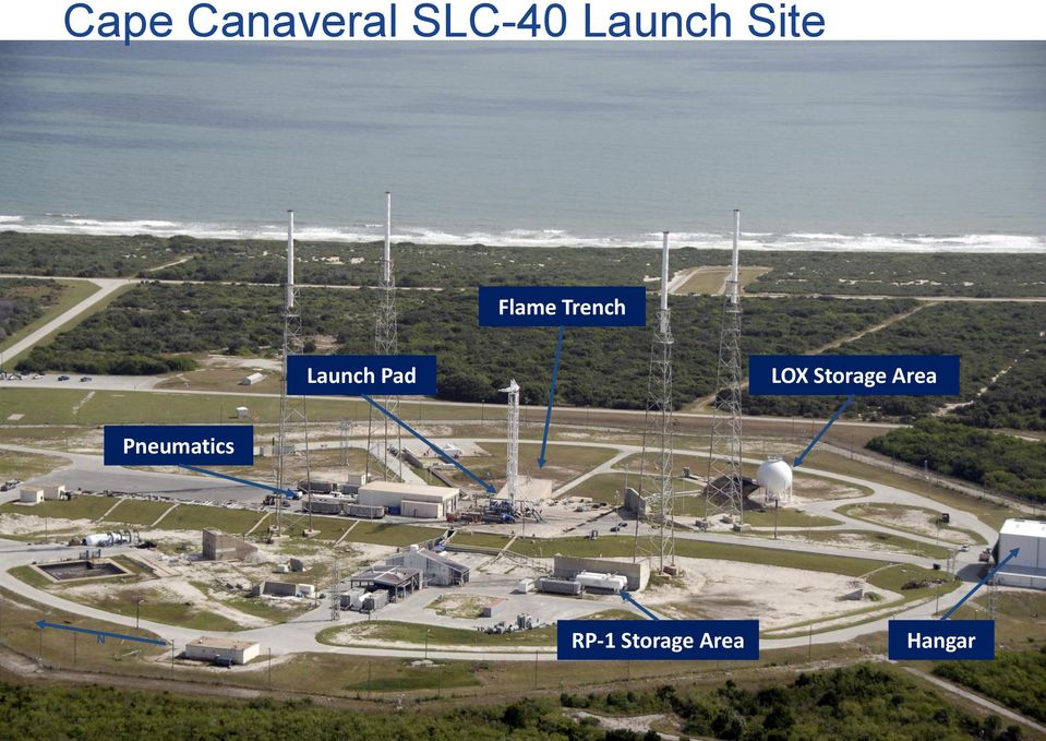 Launch Pad LOX Storage Area