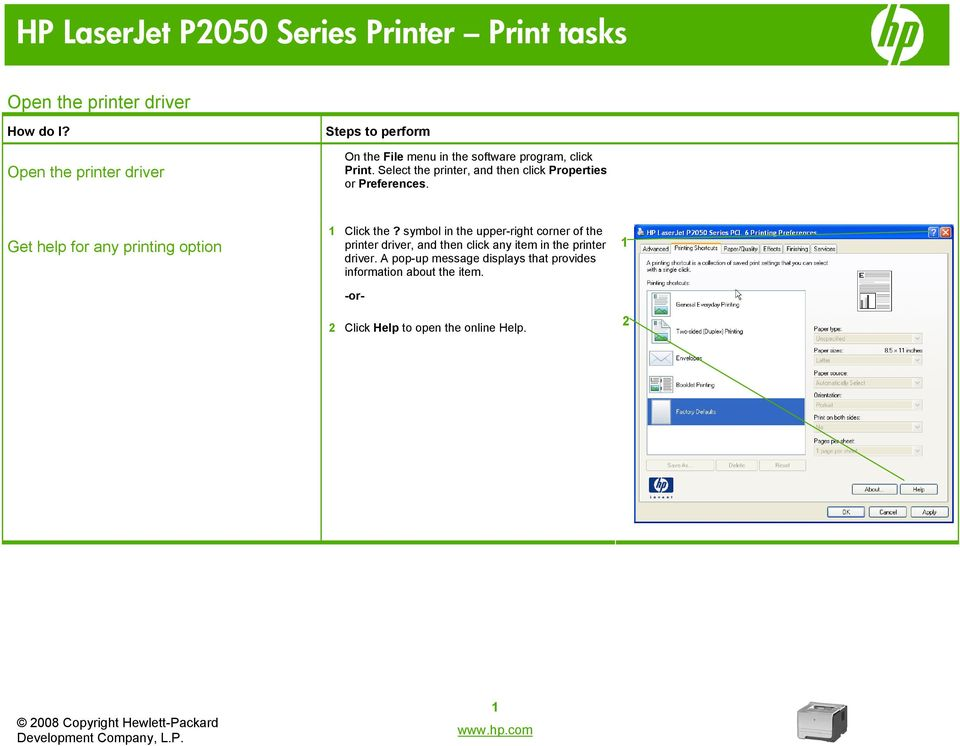 symbol in the upper-right corner of the printer driver, and then click any item in the printer driver.