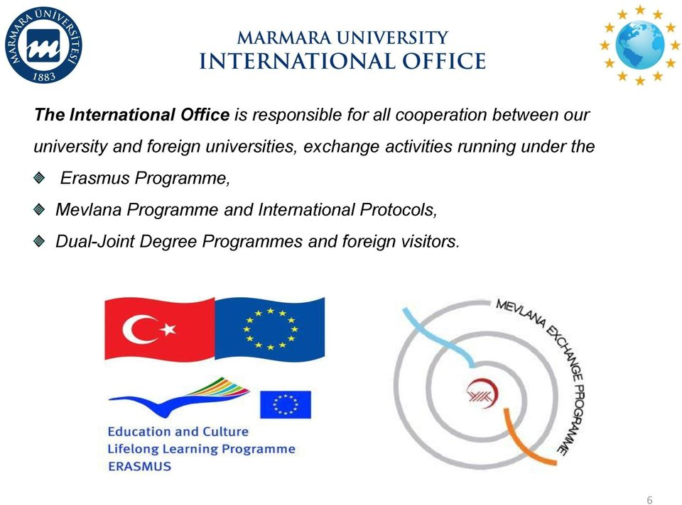activities running under the Erasmus Programme, Mevlana Programme