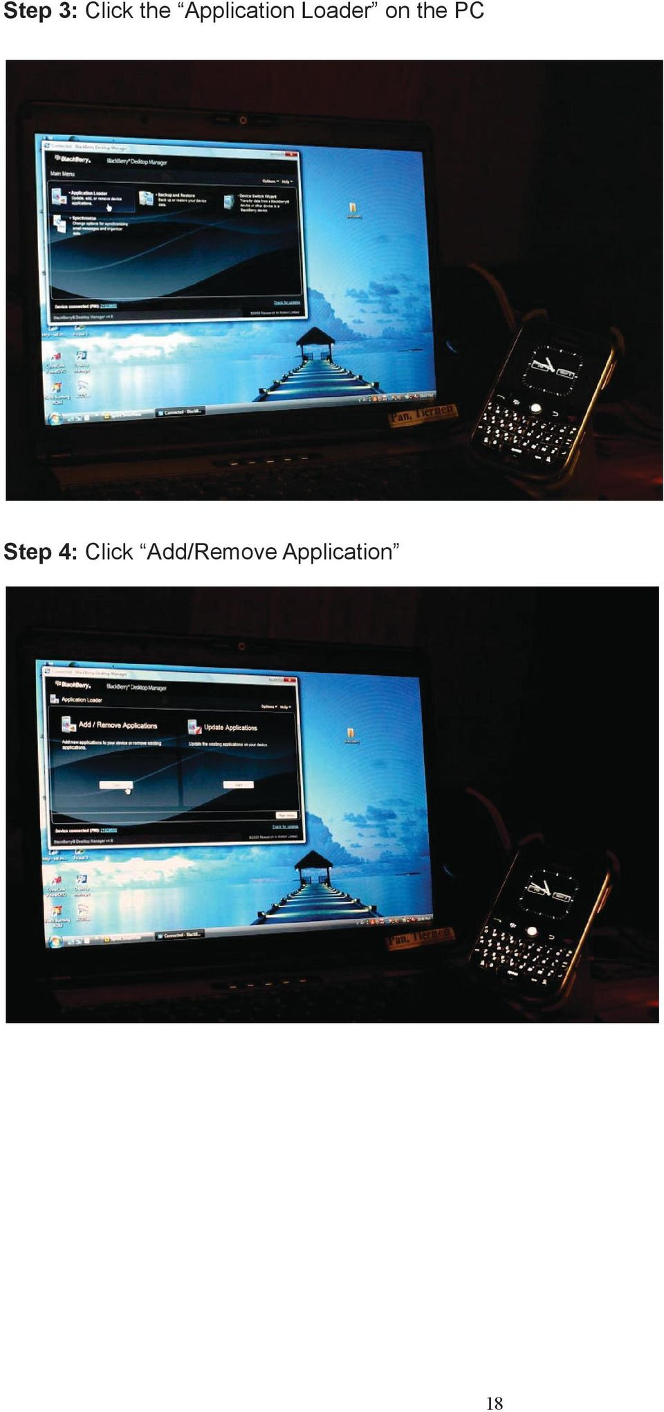 the PC Step 4: Click
