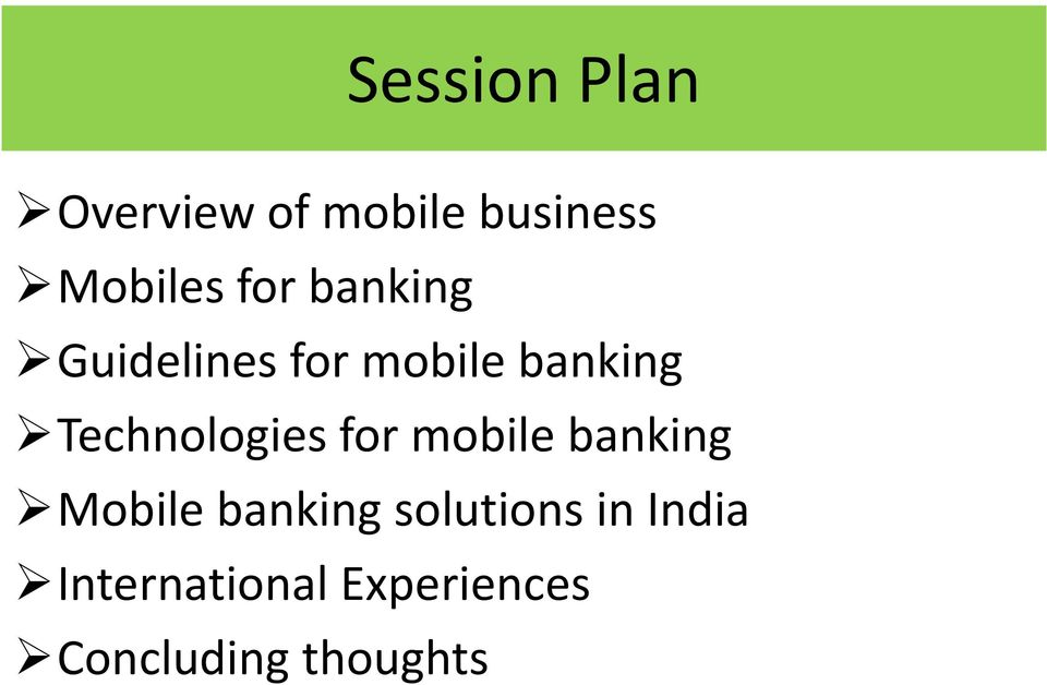 Technologies for mobile banking Mobile banking