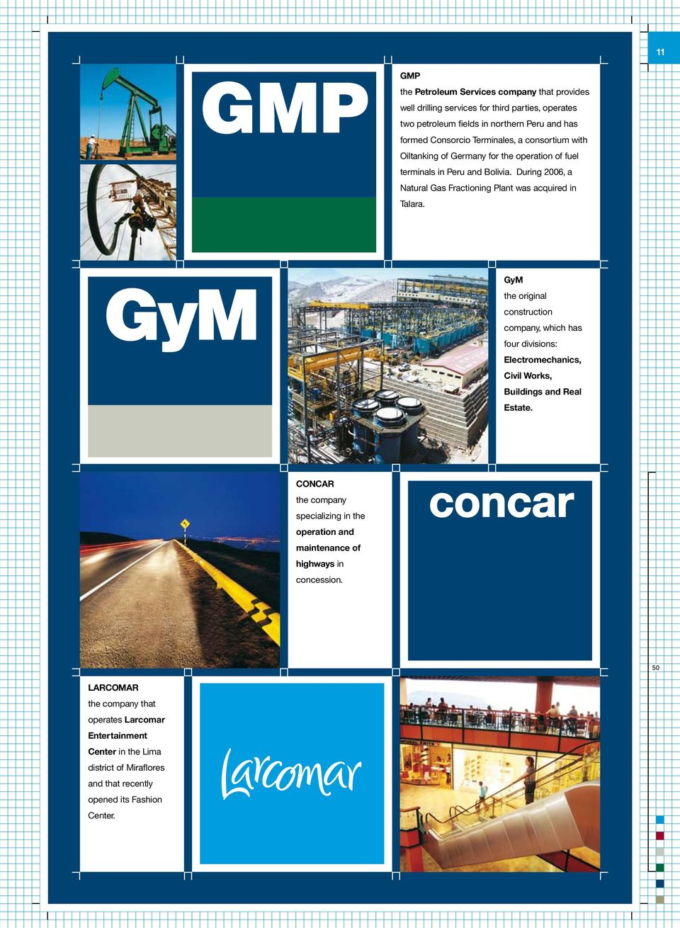 GyM the original construction company, which has four divisions: Electromechanics, Civil Works, Buildings and Real Estate.