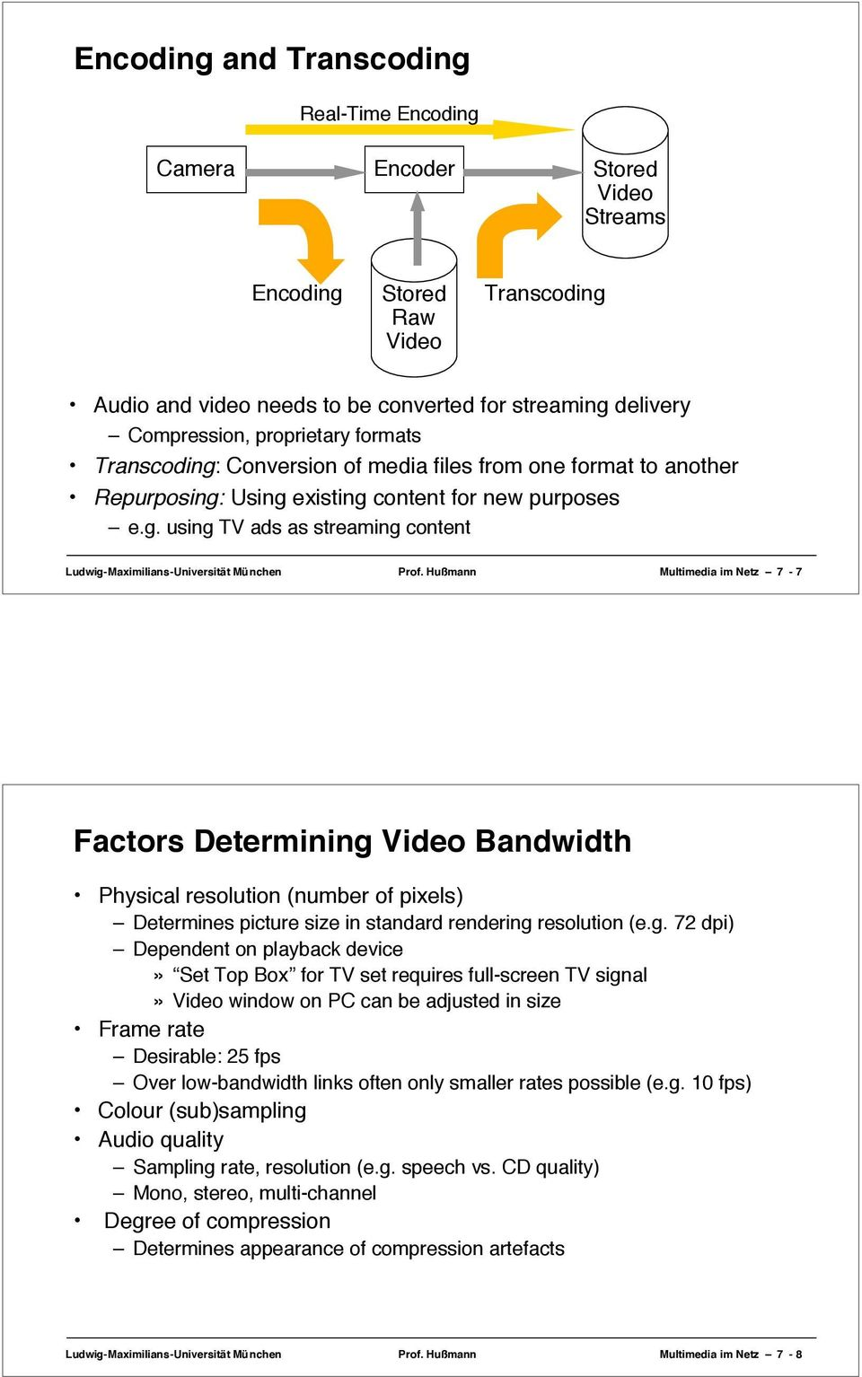 Hußmann Multimedia im Netz 7-7 Factors Determining
