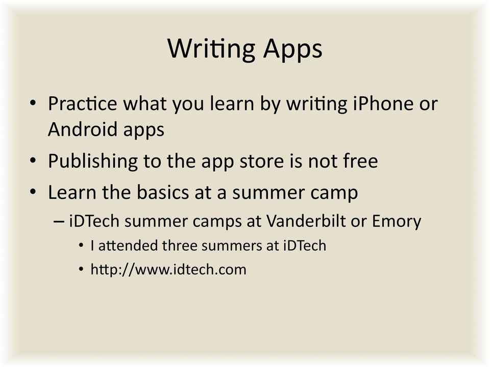 the basics at a summer camp idtech summer camps at