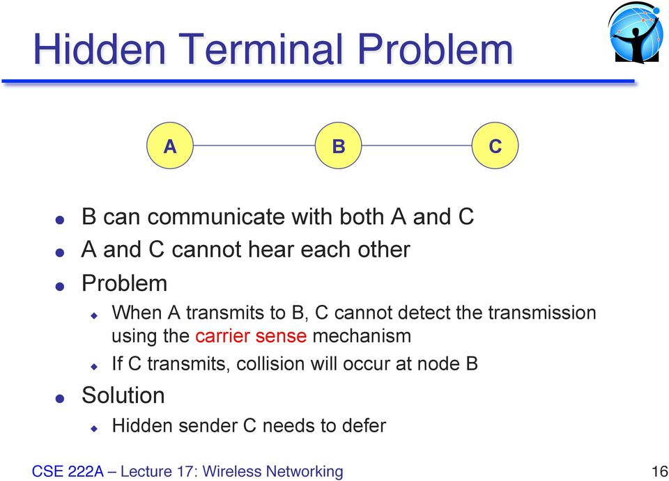 detect the transmission using the carrier sense mechanism If C
