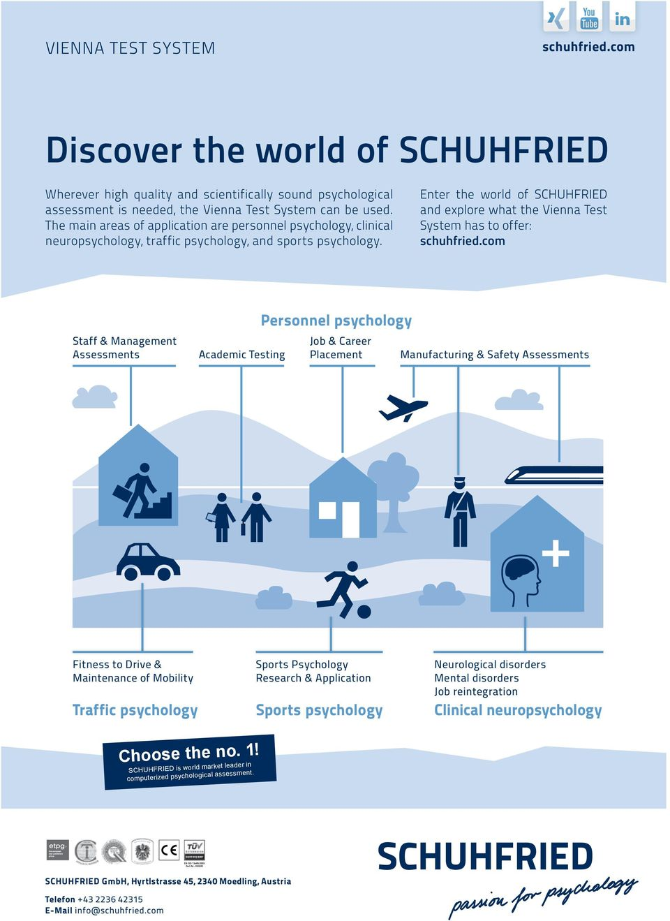 Enter the world of SCHUHFRIED and explore what the Vienna Test System has to offer: schuhfried.