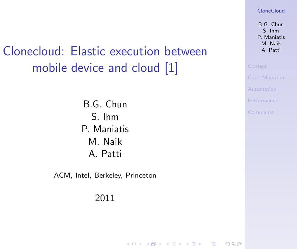 device and cloud [1] ACM,