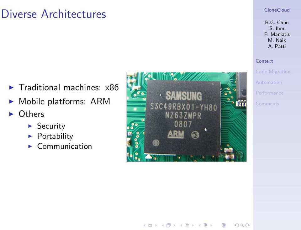 Mobile platforms: ARM