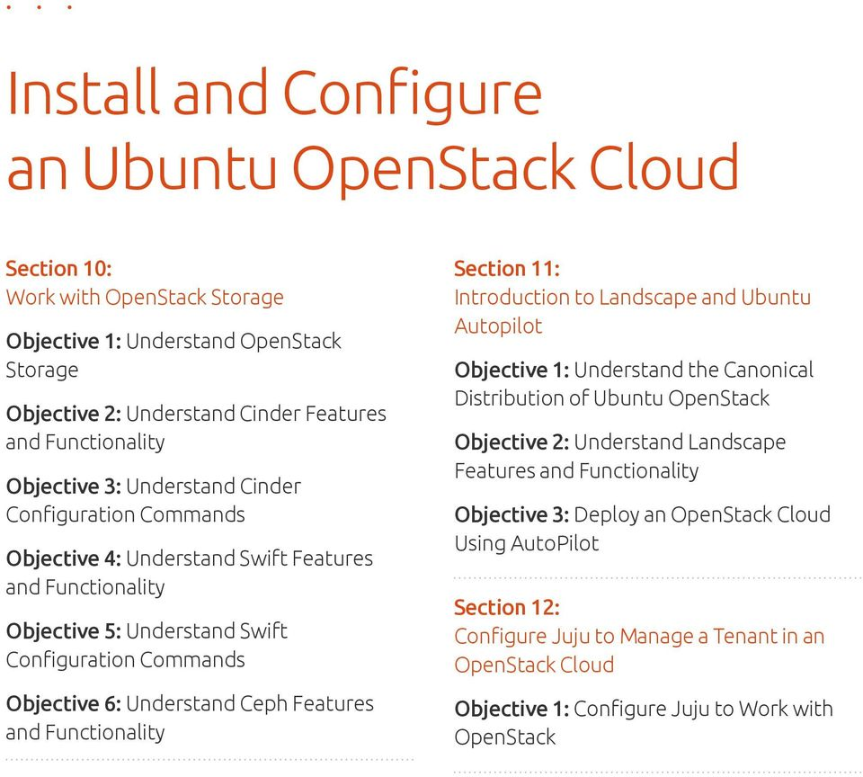 Landscape and Ubuntu Autopilot Objective 1: Understand the Canonical Distribution of Ubuntu OpenStack Objective 2: Understand Landscape Features Objective