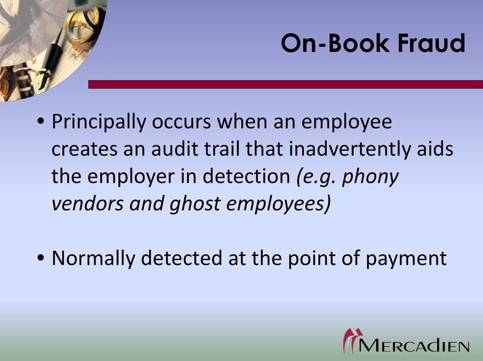 employer in detection (e.g.