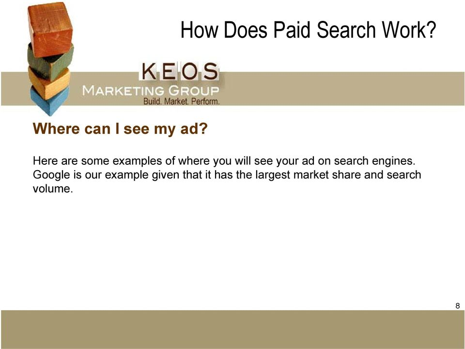 ad on search engines.