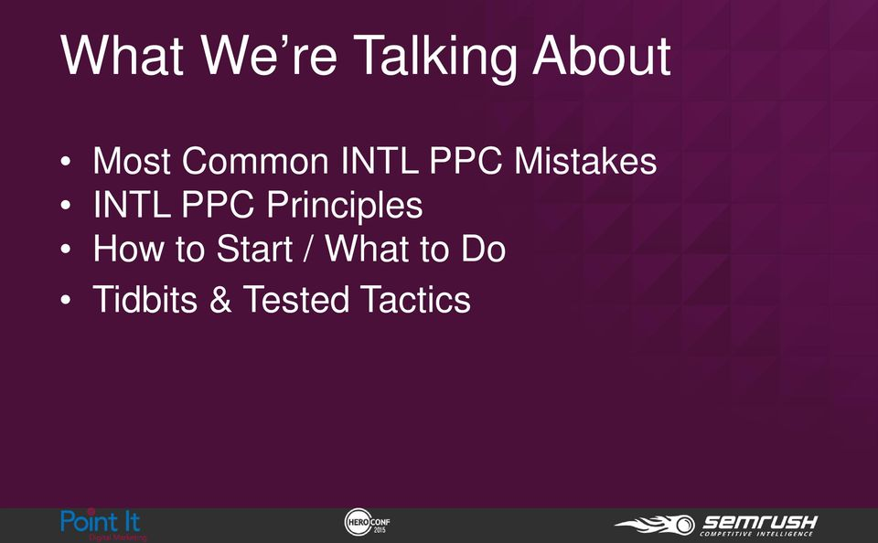 PPC Principles How to Start /