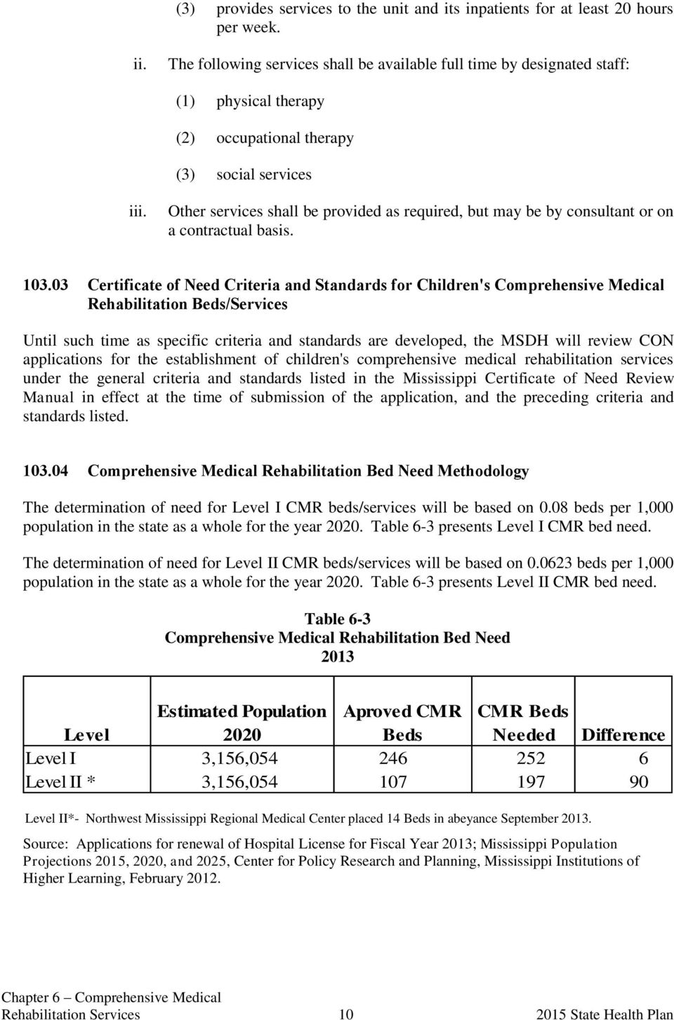 Other services shall be provided as required, but may be by consultant or on a contractual basis. 103.