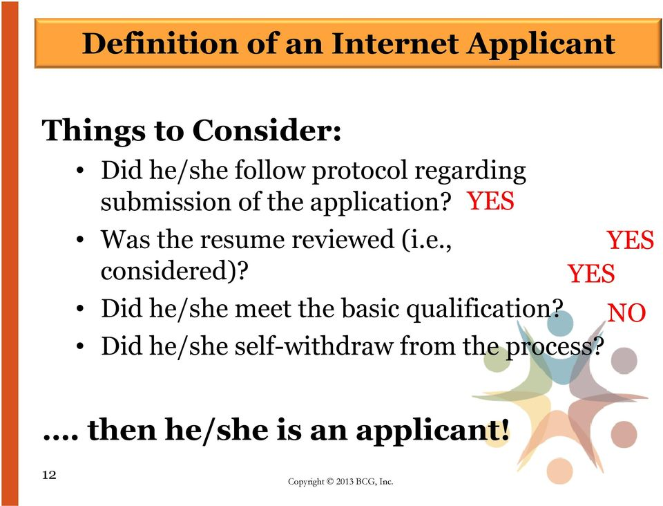 YES Was the resume reviewed (i.e., YES considered)?