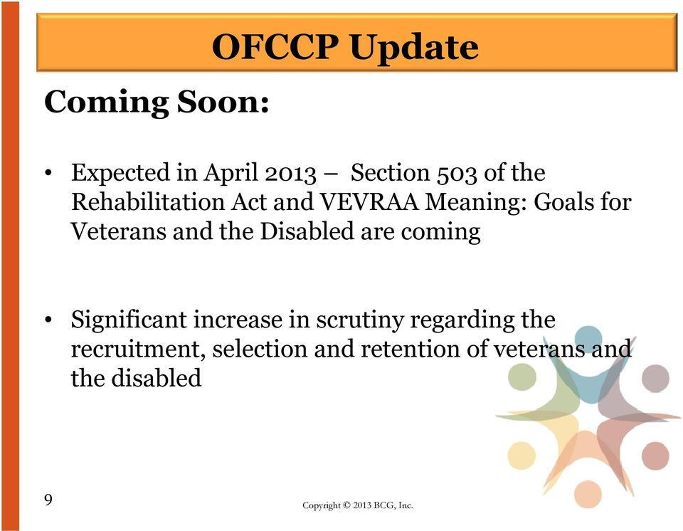 the Disabled are coming Significant increase in scrutiny regarding