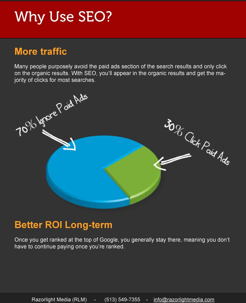 click on the organic results.