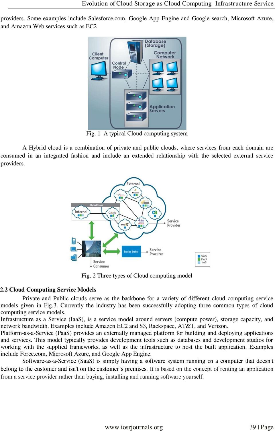 relationship with the selected external service providers. Fig. 2 Three types of Cloud computing model 2.