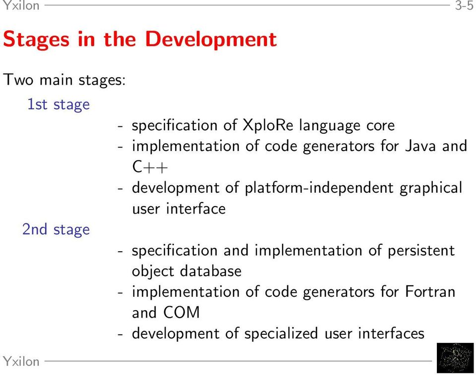 platform-independent graphical user interface - specification and implementation of persistent