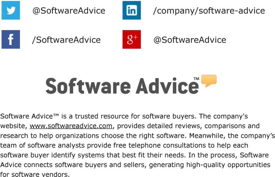 com, provides detailed reviews, comparisons and research to help organizations choose the right software.