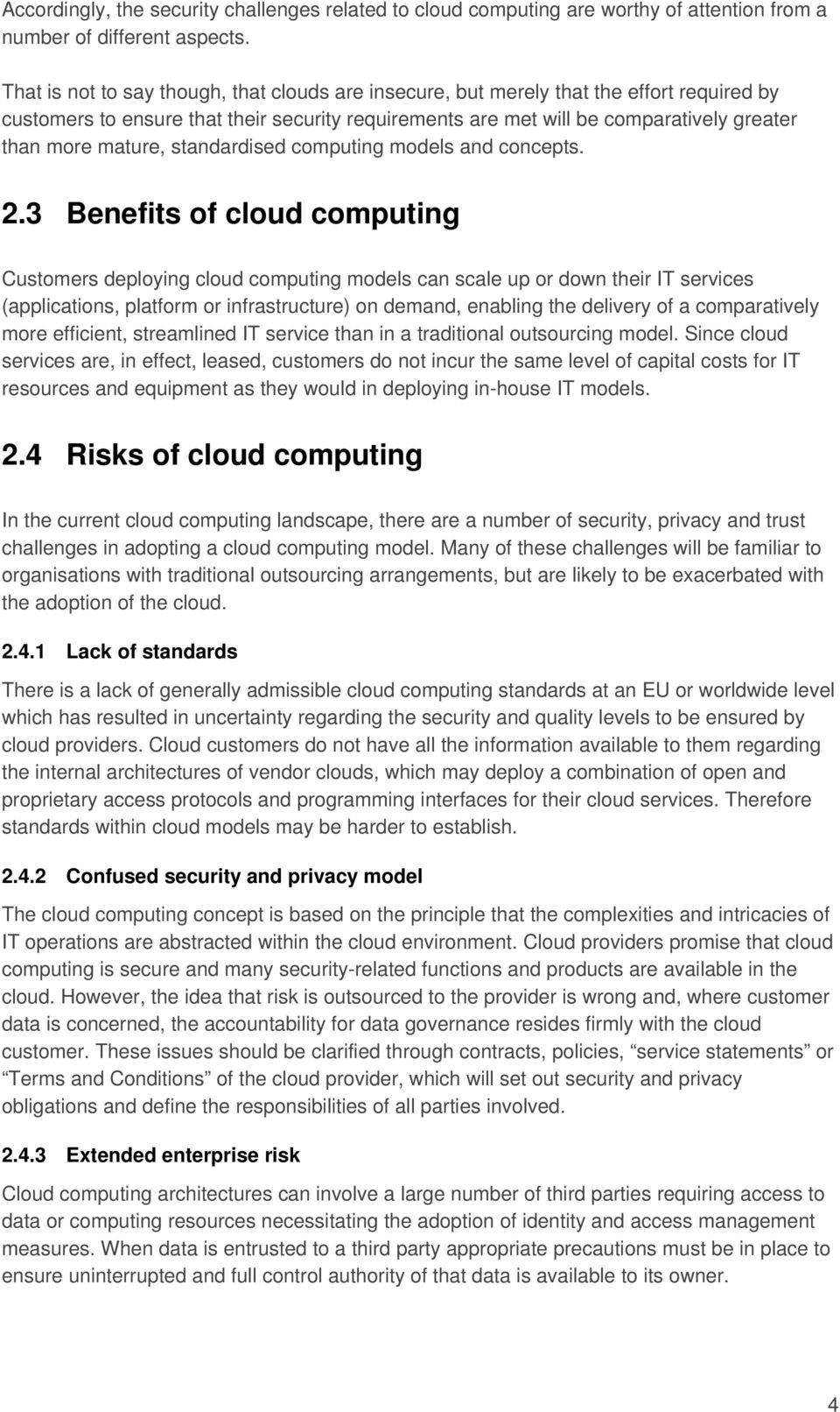 mature, standardised computing models and concepts. 2.
