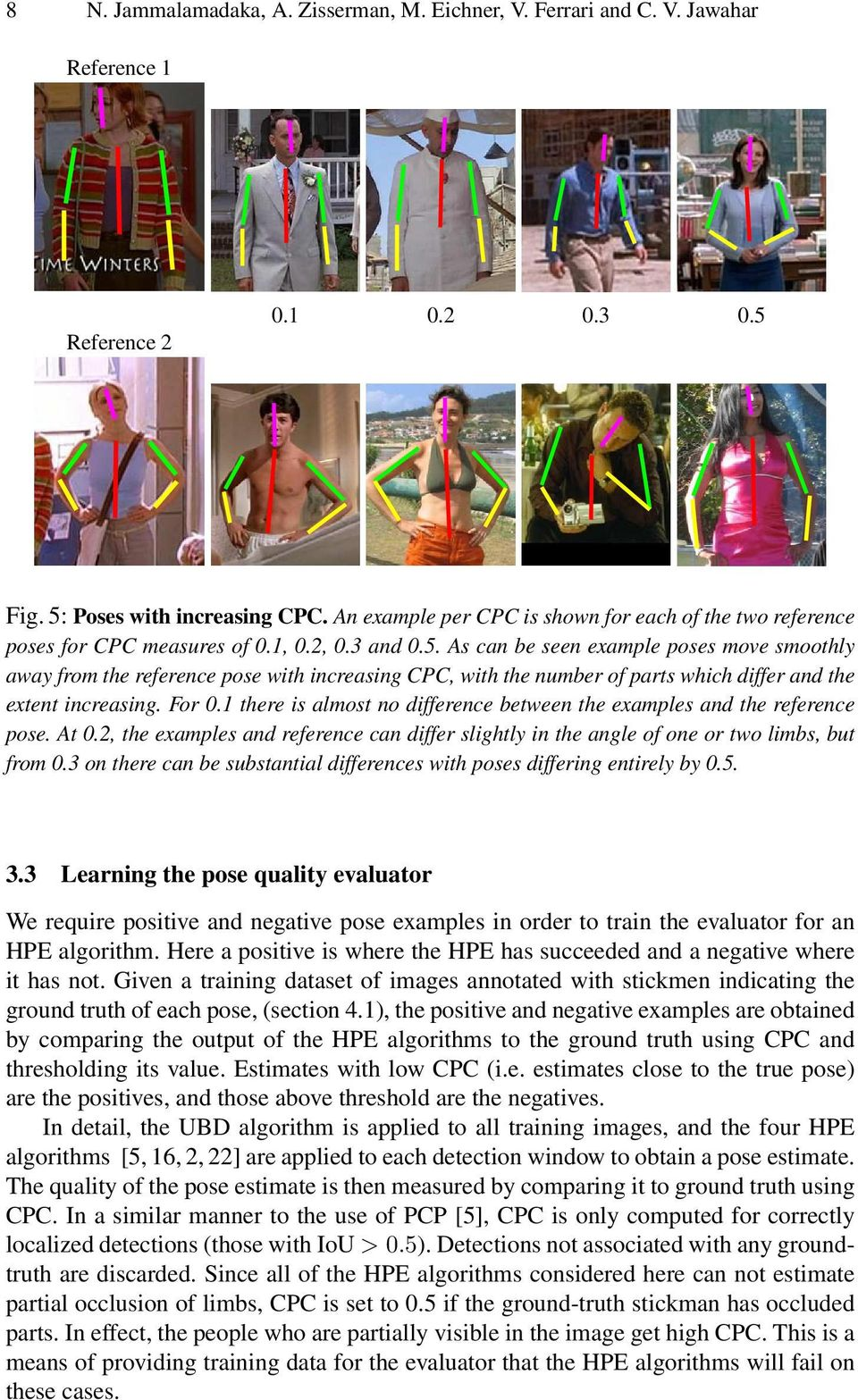 As can be seen example poses move smoothly away from the reference pose with increasing CPC, with the number of parts which differ and the extent increasing. For 0.