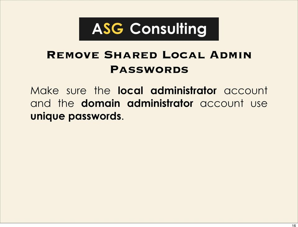 administrator account and the