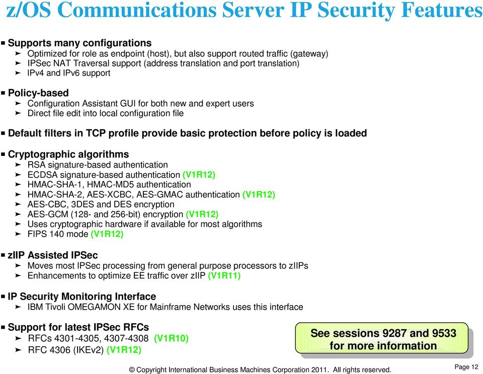 z/os Communications Server Network Security Overview SHARE ...