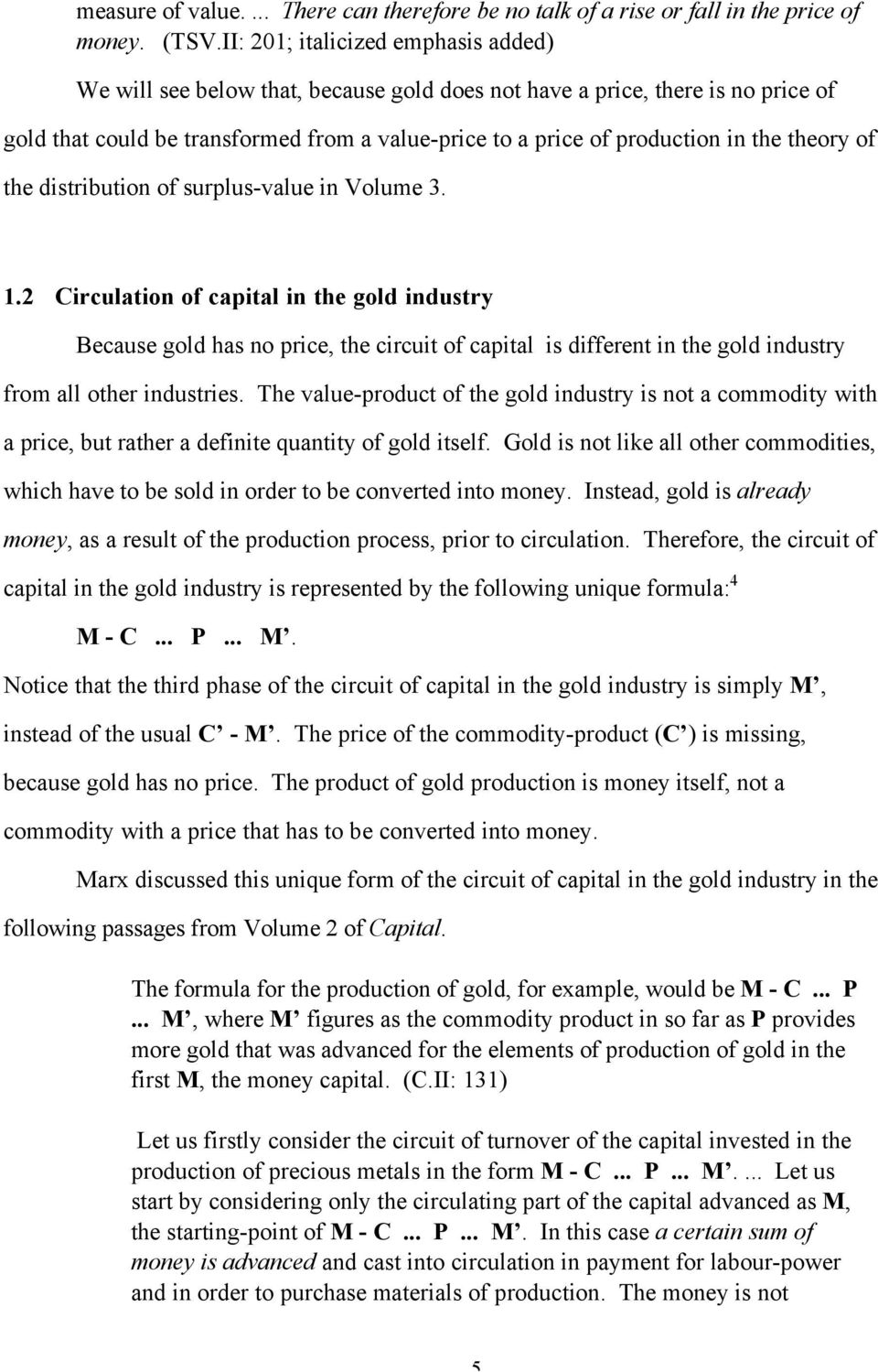 theory of the distribution of surplus-value in Volume 3. 1.