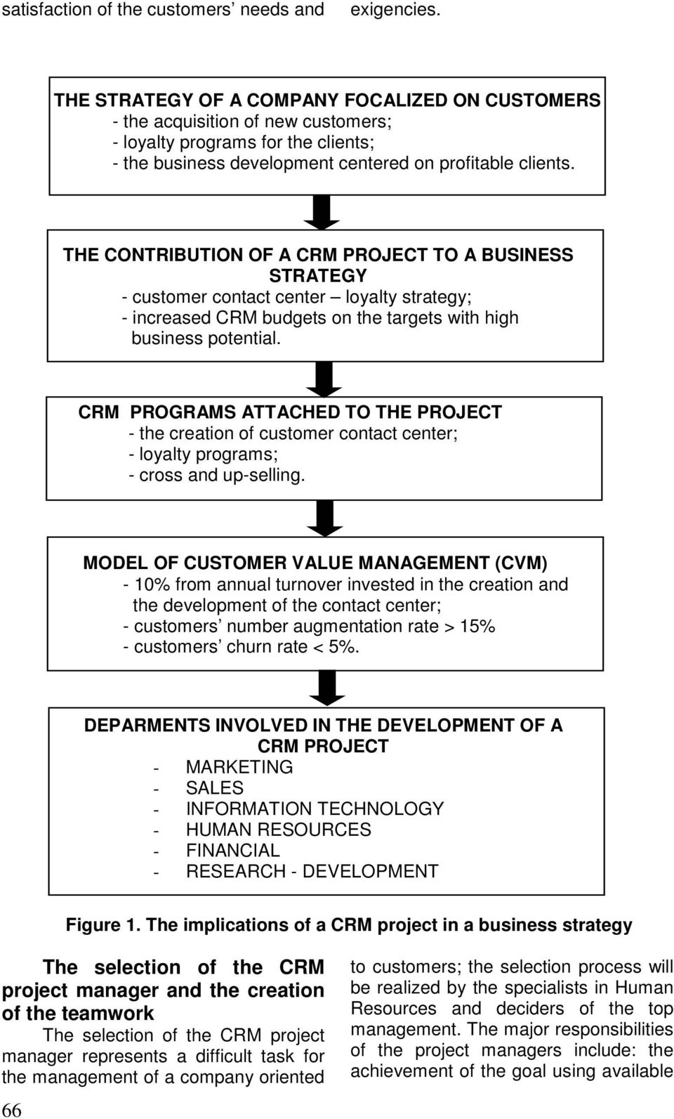 THE CONTRIBUTION OF A CRM PROJECT TO A BUSINESS STRATEGY - customer contact center loyalty strategy; - increased CRM budgets on the targets with high business potential.