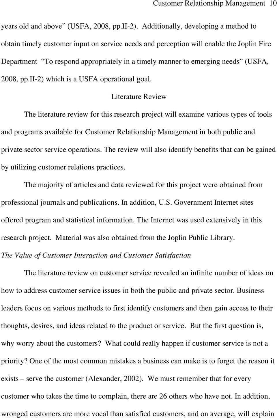 (USFA, 2008, pp.ii-2) which is a USFA operational goal.