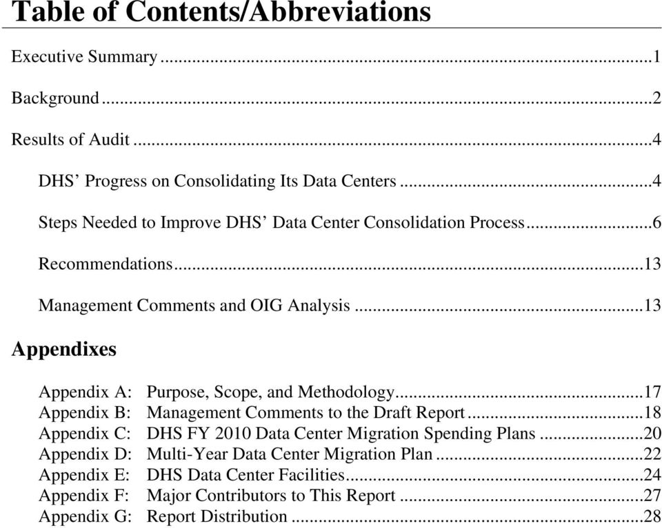 ..13 Appendixes Appendix A: Purpose, Scope, and Methodology...17 Appendix B: Management Comments to the Draft Report.