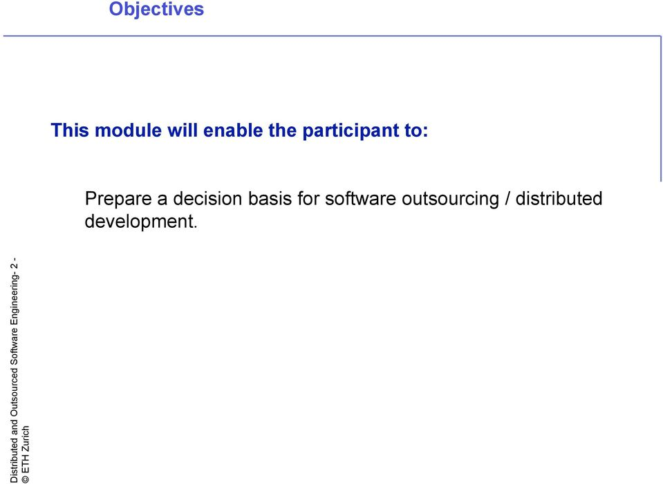 software outsourcing / distributed